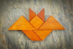 Tangram bat abstract Stock Photography