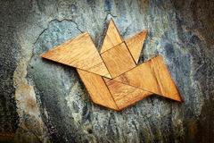 Tangram bat - Halloween concept Royalty Free Stock Photography