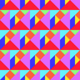 Tangram bezszwowy wzór Fotografia Royalty Free