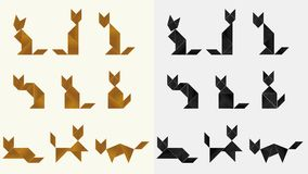 Tangram cats - cdr format Stock Image