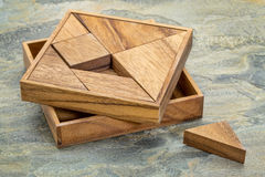 Tangram - Chinese puzzle game Royalty Free Stock Photo