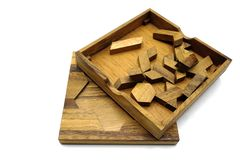 Tangram, Chinese traditional puzzle game stock photography