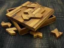 Tangram, Chinese traditional puzzle game royalty free stock photography