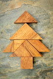 Tangram Christmas tree Royalty Free Stock Images