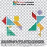 tangram dancingowi ludzie Zdjęcia Stock
