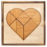 Tangram do coração Imagens de Stock Royalty Free