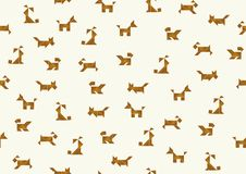 Tangram dogs background - cdr format stock image