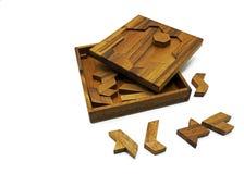 Tangram, gioco tradizionale cinese di puzzle fotografie stock libere da diritti