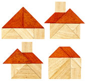 Tangram house abstracts Royalty Free Stock Images