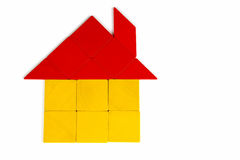 Tangram House Icon Royalty Free Stock Photography
