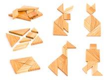 Tangram isolato con poche figure Fotografia Stock Libera da Diritti