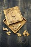 Tangram, jeu traditionnel chinois de puzzle photo libre de droits