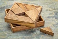 Tangram - jogo do enigma chinês Foto de Stock Royalty Free
