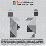tangram kapeluszowi ludzie Obraz Stock
