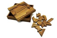 Tangram kinesisk traditionell pussellek royaltyfri foto