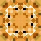 Tangram mandala puzzle. Seamless texture of beown glossy squares in a symmetric pattern Stock Images