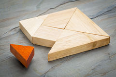 Tangram missing piece Royalty Free Stock Images