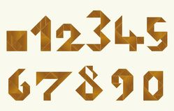 Tangram, numbers - cdr format. Numbers made from tangram, an old chinese game Stock Photos