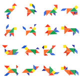 Tangram People Icon Stock Image