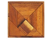 Tangram puzzle on white Royalty Free Stock Images