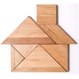 Tangram-Puzzlespiel-Abbildung: Haus Lizenzfreie Stockbilder
