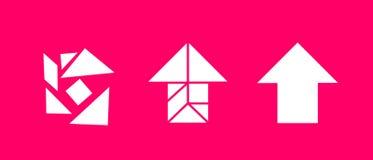 Tangram - resolvendo o problema Imagens de Stock Royalty Free