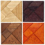 Tangram squares Royalty Free Stock Images