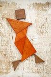 Tangram tancerza postać Zdjęcia Royalty Free
