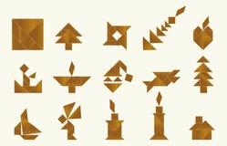 Tangram, vário ilustração royalty free