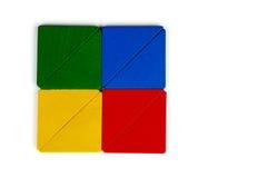 Tangram Vierkant en Driehoek Stock Afbeelding