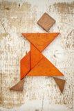 Tangramdansarediagram arkivbild