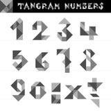 Tangramen numrerar vektorn Arkivbilder