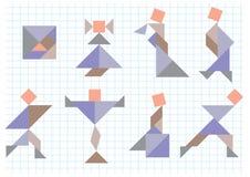 Tangramleute Stockbilder