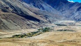 Tangsey village, landscape of Leh, Ladakh, Jammu and Kashmir, India Stock Photo