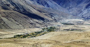 Tangsey village, landscape of Leh, Ladakh, Jammu and Kashmir, India Stock Photography