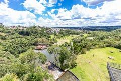 Tangua公园看法  库里奇巴, PARANA/BRAZIL 免版税库存照片