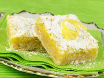 Tangy Lemon Bars Stock Photography