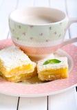 Tangy lemon squares Stock Image