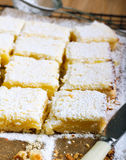 Tangy lemon squares Stock Photography