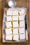 Tangy lemon squares Stock Images