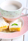 Tangy lemon squaresffee Royalty Free Stock Images