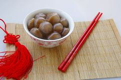 Tangyuan (red jujube crystal) Royalty Free Stock Photography