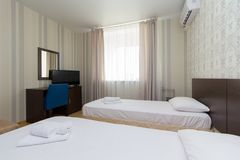 Tani mieszkania w hotelu obraz stock