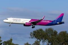 tania Hugarian linia lotnicza Wizzair A321 Obraz Royalty Free