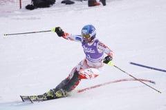 Tania Poutiainen - het alpiene ski?en Stock Afbeelding
