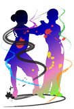 Taniec żartuje sztukę Fotografia Royalty Free