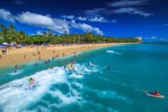 Taniec boogie deskowy Waikiki Obraz Royalty Free