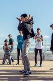 Taniec gdy ono jest Fotografia Royalty Free