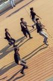 Taniec gdy ono jest Zdjęcie Stock