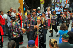taniec grupowy Uzbekistan Zdjęcia Royalty Free